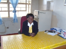 Mrs Tembo Assistant in charge of Mungule Clinic.