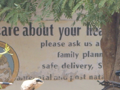 Wall of clinic in Mungule