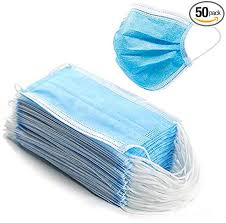 Disposable Face Masks - 50 PCS - For Home & Office - 3-Ply Breathable &  Comfortable Filter Safety Mask - - Amazon.com